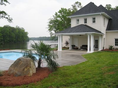 exterior view of house & pool